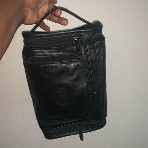 TUMI make up camera toiletry leather bag